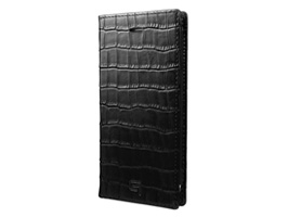 GRAMAS Croco Patterned Full Leather Case GLC6146P for iPhone 8 Plus / iPhone 7 Plus(ブラック)