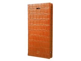 GRAMAS Croco Patterned Full Leather Case GLC6146P for iPhone 8 Plus / iPhone 7 Plus(タン)