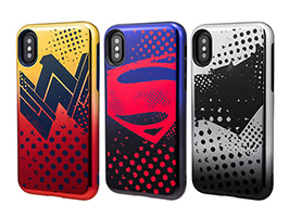 GRAMAS COLORS Hybrid Case with Justice League CHC-50357 for iPhone X