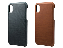 "GRAMAS ""TOIANO"" Shell Leather Case GSC-70327 for iPhone X"