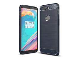 Cruzerlite Carbon Fiber Shock Absorption Slim Cover for OnePlus 5T(ブルー)