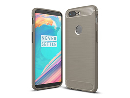 Cruzerlite Carbon Fiber Shock Absorption Slim Cover for OnePlus 5T(グレイ)