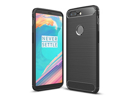 Cruzerlite Carbon Fiber Shock Absorption Slim Cover for OnePlus 5T(ブラック)