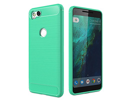 Cruzerlite Carbon Fiber Shock Absorption Slim Cover for Pixel 2(ティール)