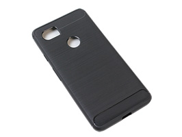 Cruzerlite Carbon Fiber Shock Absorption Slim Cover for Pixel 2 XL(ブラック)