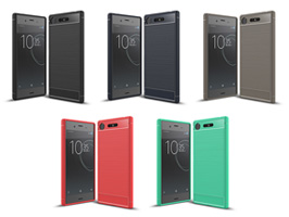 Cruzerlite Carbon Fiber Shock Absorption Slim Cover for Xperia XZ1 SO-01K / SOV36