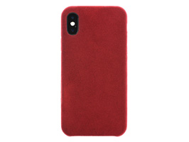 Ultrasuede Air jacket for iPhone X(レッド)