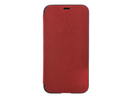 Ultrasuede Flip case for iPhone X(レッド)