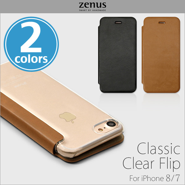 Zenus Classic Clear Flip for iPhone 8 / iPhone 7