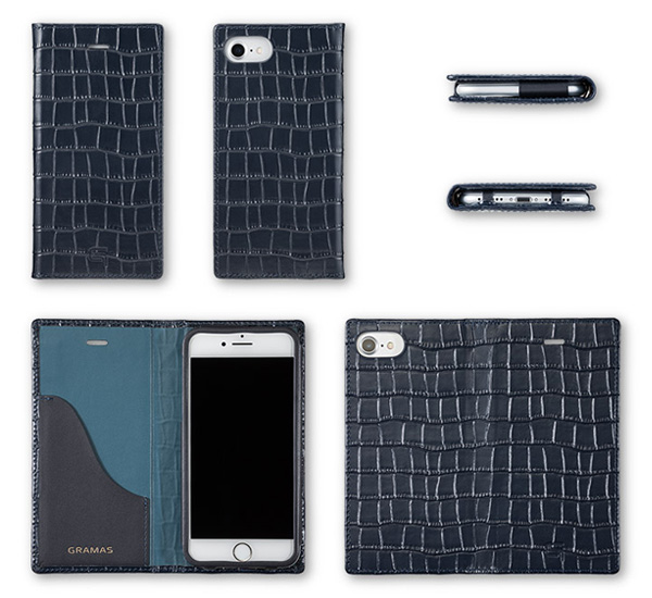 GRAMAS Croco Patterned Full Leather Case for iPhone 7