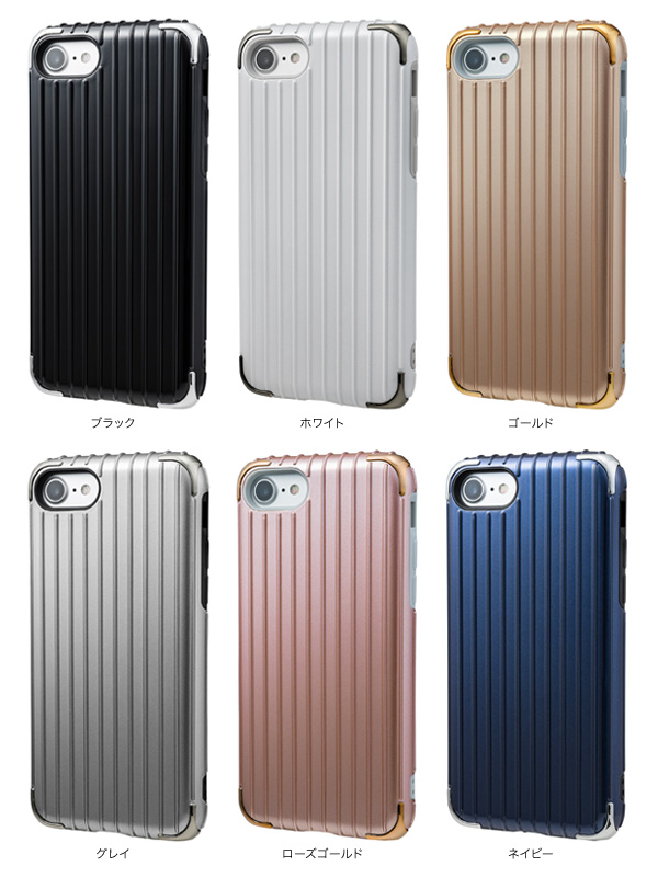 "カラー GRAMAS COLORS ""Rib 2"" Hybrid Case for iPhone 7"