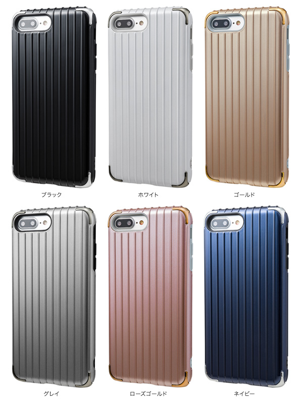 "カラー GRAMAS COLORS ""Rib 2"" Hybrid Case for iPhone 7 Plus"