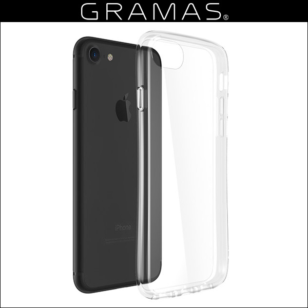GRAMAS COLORS Glass Hybrid Clear Case for iPhone 8 / 7 / 6s / 6