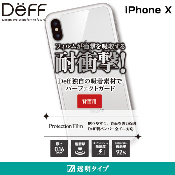 Protection Film 背面用 for iPhone X(背面用)