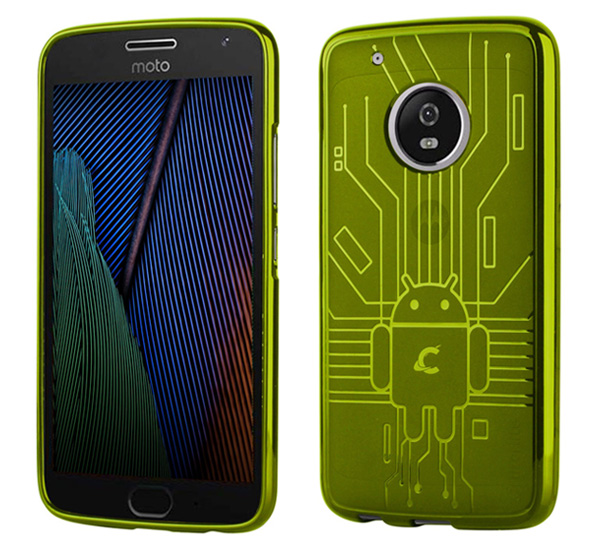 Cruzerlite Bugdroid Circuit Case for Motorola Moto G5 Plus