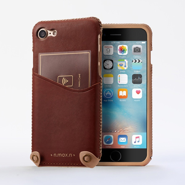 n.max.n Mystery Series 本革縫製ケース 画面カバー無しタイプ for iPhone 7