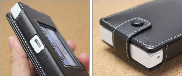 PDAIR レザーケース for Wi-Fi STATION N-01J スリーブタイプ