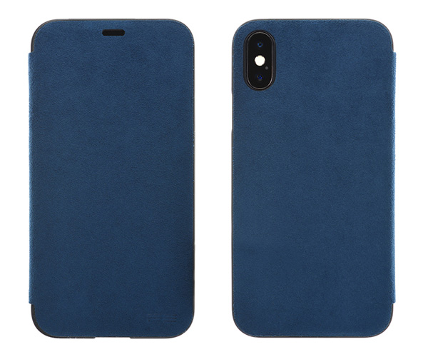 Ultrasuede Flip case for iPhone X