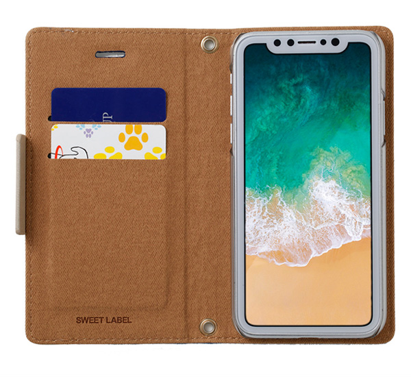 SWEET LABEL Folklore Diary Case for iPhone X