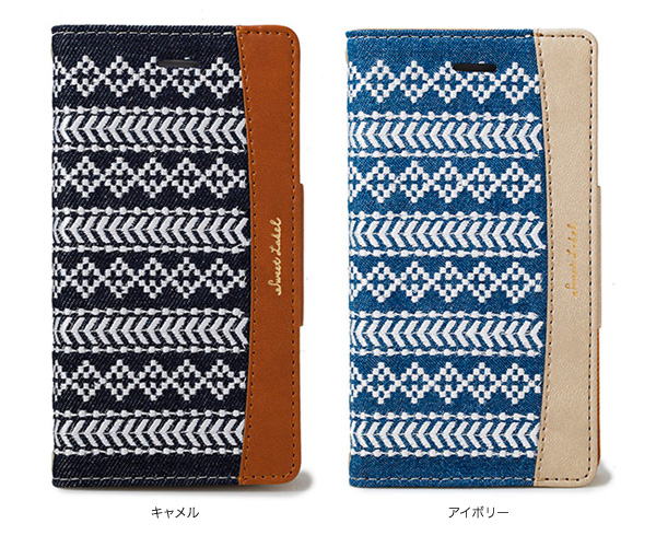 カラー SWEET LABEL Folklore Diary Case for iPhone X