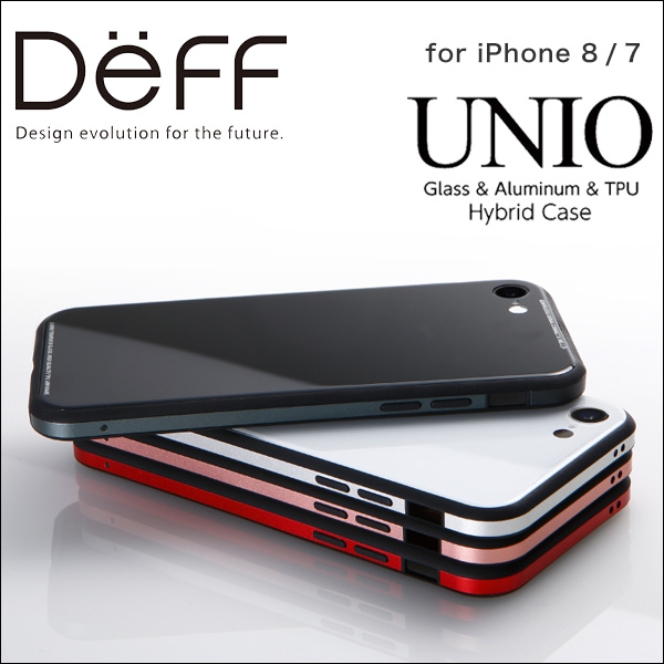Glass & Aluminum & TPU Hyblid Case UNIO for iPhone 8 / iPhone 7