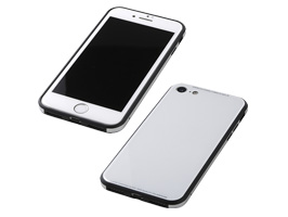 Glass & Aluminum & TPU Hyblid Case UNIO for iPhone 8(ホワイト)