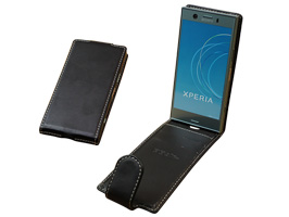 PDAIR レザーケース for Xperia XZ1 Compact SO-02K 縦開きタイプ