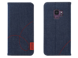Zenus Denim Stitch Diary for Galaxy S9 SC-02K / SCV38