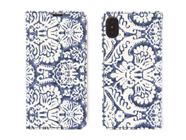 Zenus Denim Paisley Diary for iPhone XR