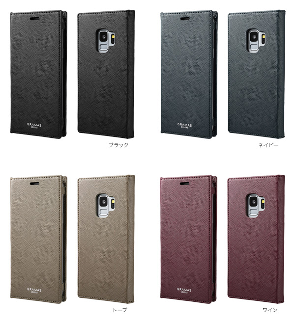 "カラー GRAMAS COLORS ""EURO Passione"" Book PU Leather Case for Galaxy S9 SC-02K / SCV38"