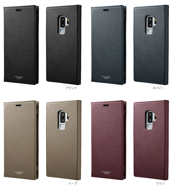 "カラー GRAMAS COLORS ""EURO Passione"" Book PU Leather Case for Galaxy S9+ SC-03K / SCV39"