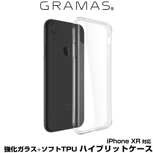 GRAMAS COLORS Glass Hybrid Shell Case for iPhone XR(クリア)