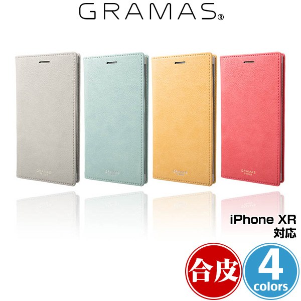 GRAMAS FEMME Colo PU Leather Book Case for iPhone XR