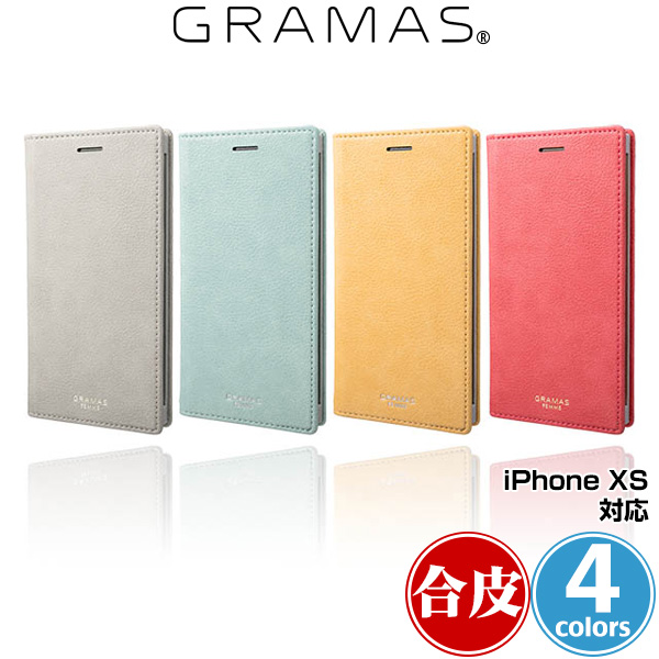 GRAMAS FEMME Colo PU Leather Book Case for iPhone XS