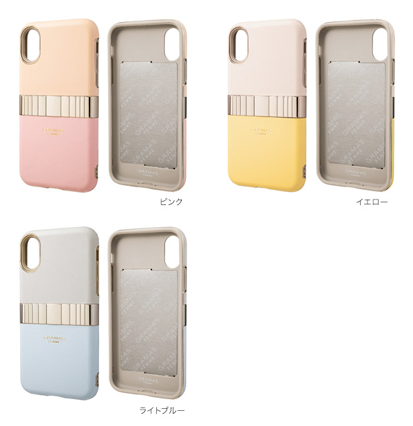 カラー GRAMAS FEMME Rel Hybrid Shell Case for iPhone XS