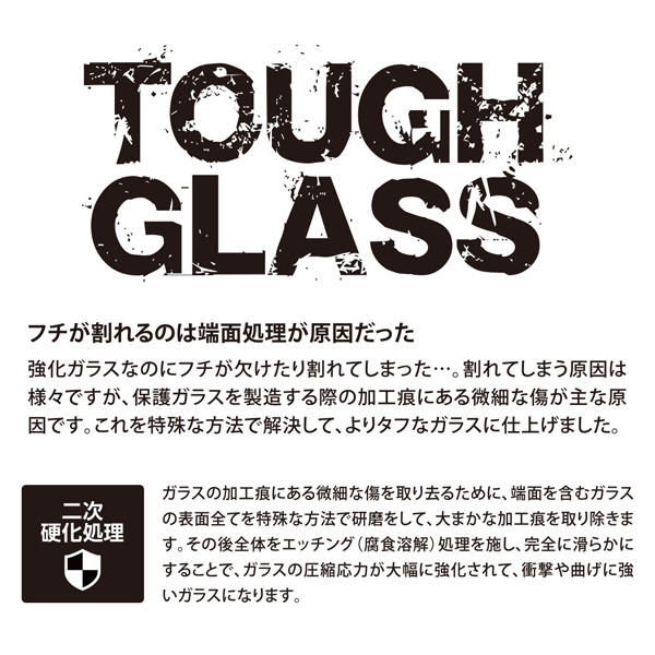Deff TOUGH GLASS のぞき見防止 for iPhone XS(ブラック)