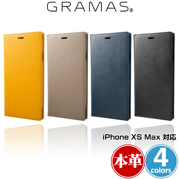 GRAMAS Italian Genuine Leather Book Case for iPhone XS MAX
