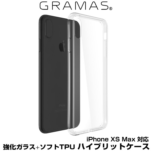 GRAMAS COLORS Glass Hybrid Shell Case for iPhone for iPhone XS Max(クリア)