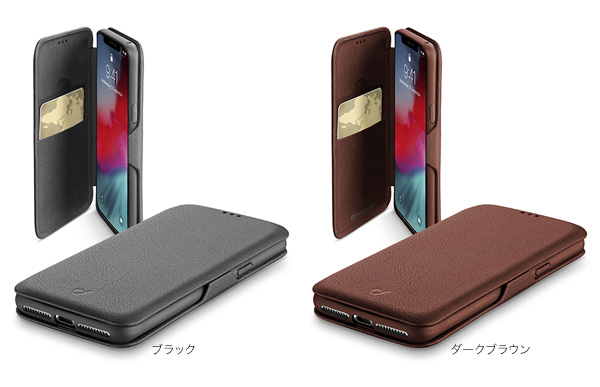 カラー cellularline Book Clutch 手帳型ケース for iPhone XR