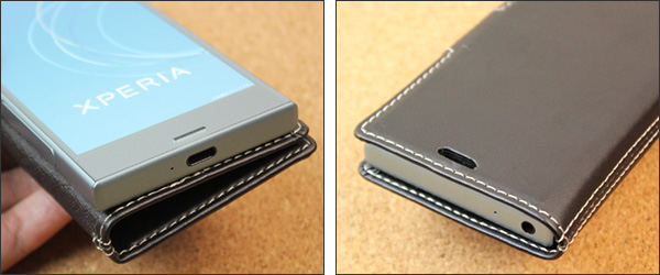 PDAIR レザーケース for Xperia XZ1 Compact SO-02K 横開きタイプ