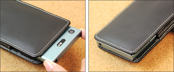 PDAIR レザーケース for Xperia XZ1 Compact SO-02K バーティカルポーチタイプ