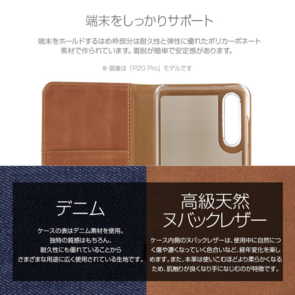 Zenus Denim Stitch Diary for HUAWEI P20 Pro