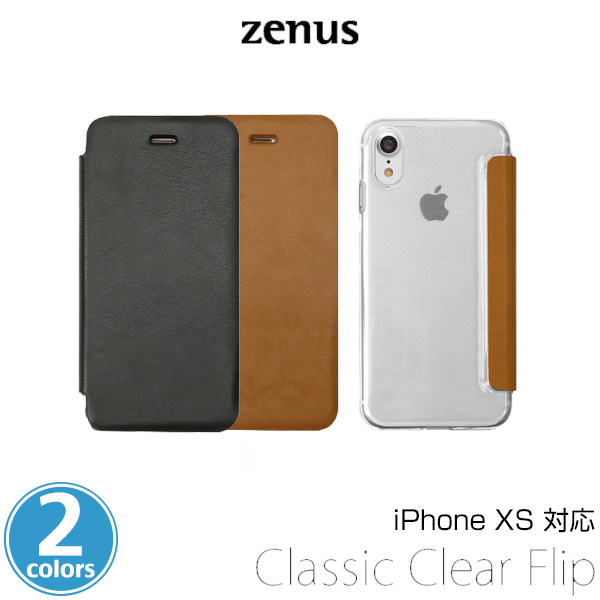 Zenus Classic Clear Flip for iPhone XS