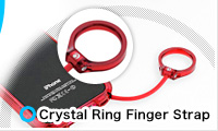 Crystal Ring Finger Strap